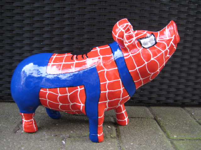 individuelle Geschenkidee Spiderschwein